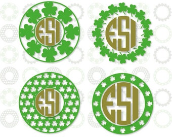St Patricks Day svg, Shamrock svg. SVG DXF and Eps format, cut files for Silhouette Studio and Cricut Design Space.