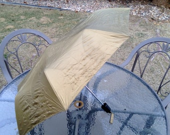 Vintage Gold Shedrain Umbrella Free Shipping