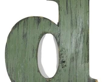 Wooden Letter D Etsy