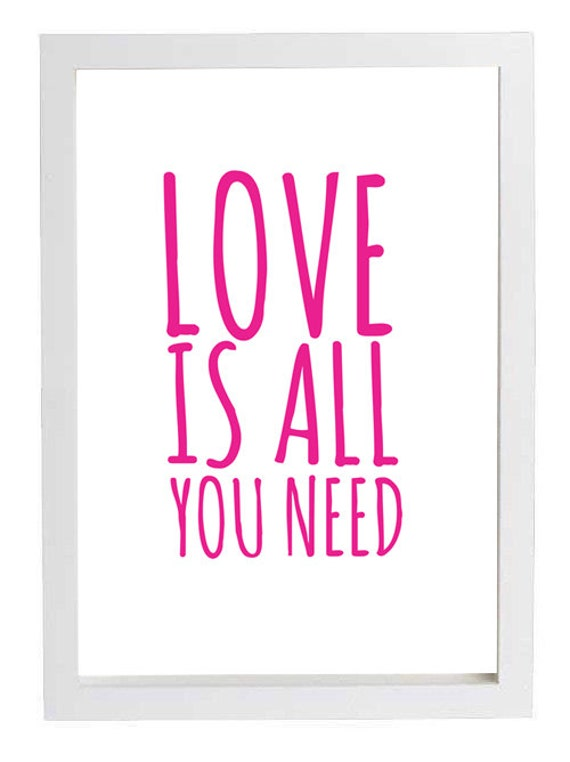 Wall art love is all you need inspirational by theolivepicker for I need art for my walls