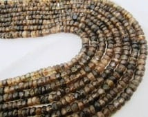 """Beautiful Andalusite Rondelle faceted Beads, AA Quality 5mm Faceted Andalusite Strands 13"""", Semi Precious Gemstone Beads sold per STRAND"""