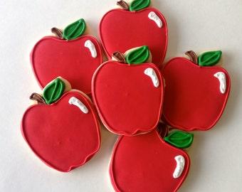 Apple Sugar Cookies - one dozen teacher gift snow white theme