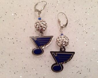 St. Louis Blues dangle earrings.