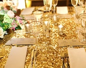 Sequin tablecloth, Wedding Table cloth, Sparkle sequin linens, Custom made Gold sequin tablecloth, Sparkling  sequin table runners , overlay