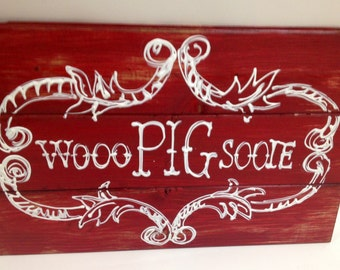 Beautiful handmade painted 2 & 3 tier wooden Razorbacks signs. Whoo pig Sooie. Hogs. Ready to hang.Arkansas Sign. Whoo Pig Sooie sign. panel