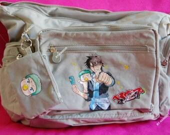 Handpainted Beelzebub bag, anime bag, kawaii bag