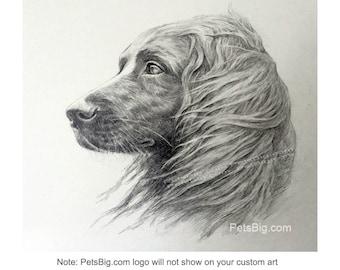Custom Dog Drawing, Custom Pet Sketch, Pet Pencil Drawing, Dog Sketch, in memory, personalized dog art, pet lover gift by PetsBig