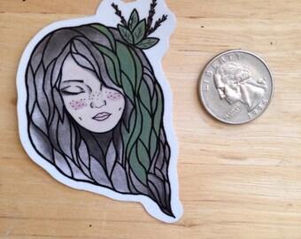 "3x2 ""Nature girl"" vinyl sticker"