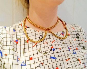 Quiche_kitty Chrome Look signature collar illusion necklace