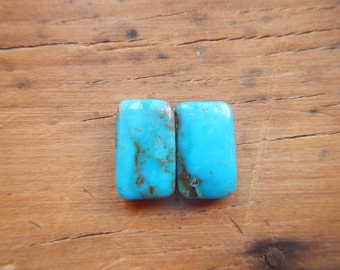 Turquoise Rectangle Earring Set #7