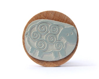 SHEEP - wooden stamp