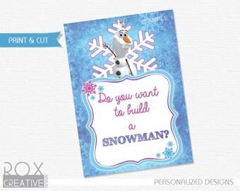 Frozen Do you want to build a Snowman Digital Design 5 x 7