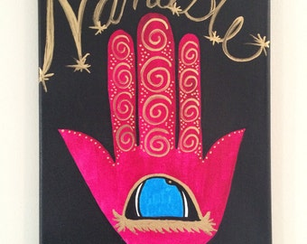 Namaste Hamsa Canvas