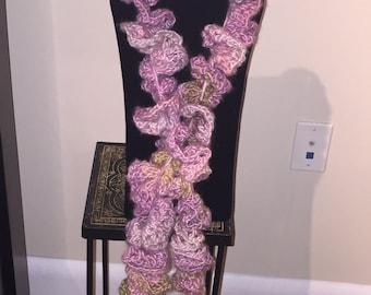 Handmade Crocheted Spiral Scarf