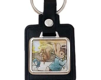 Peter Rabbit Beatrix Potter Stamp Keyring 1979