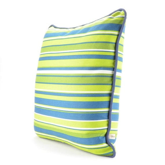 Striped pattern Decorative Pillow Cover with Piping.