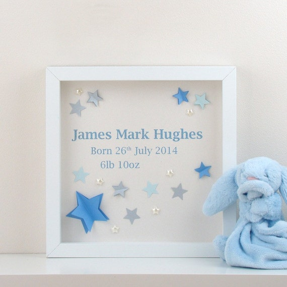 Baby Boy Gifts With Name : Personalised baby boys wall art d name perfect for