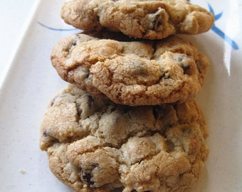 Easter gift/ cookies--Homemade Ultimate Chocolate Chip Cookies----Homemade holiday gifts---one dozen