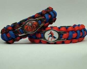 Spiderman Survival Paracord Bracelet