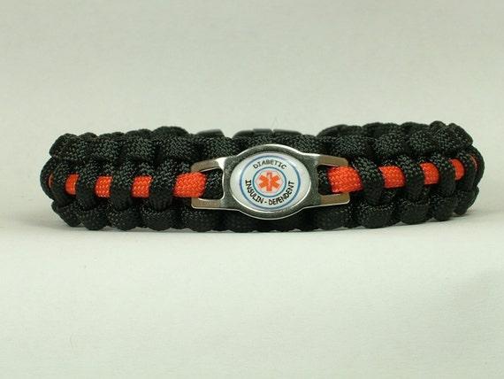 alert diabetes insulin dependant paracord bracelet