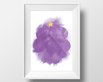 A3 - Lumpy Space Princess Adventure Time Poster, watercolor effect printable