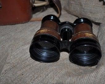 LUMIERE PARIS vintage binoculars in original case