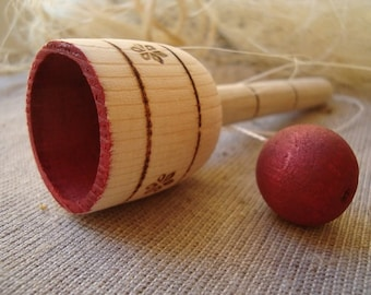 CUP n BALL. Wooden Toys. Eco-friendly toys for kids