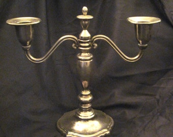 Candlelabra, Silver plated Candlelabra, Vintage 70's Candlelabra, Small decorative 2 candle holder