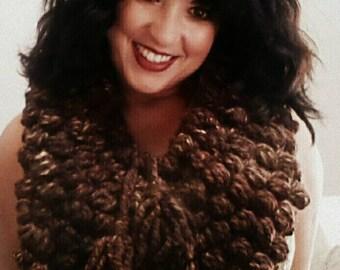 Hand Crochet Puff Cowel