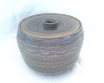 Studio Pottery Cannister with Lid