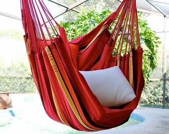 Sweet Cherry - Fine Cotton Hammock Chair, Made in Brazil