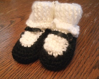 Baby Crochet Mary Jane Booties