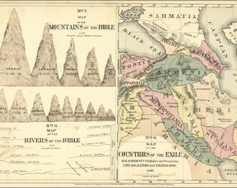 24x36 Poster; Bible Map Of The Exile, Mountains And Rivers