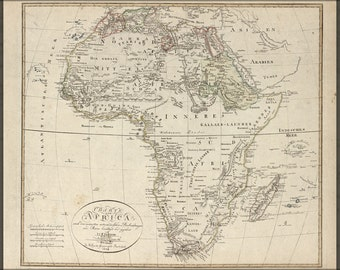 24x36 Poster; Charte Von Africa Map 1804