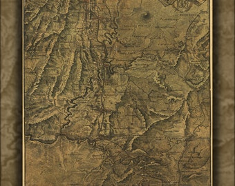 24x36 Poster; Map Western & Atlantic Railroad Georgia 1864