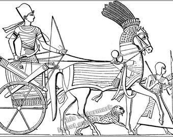 24x36 Poster; Egyptian Chariot