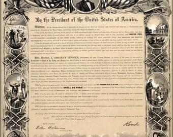 24x36 Poster; Emancipation Proclamation
