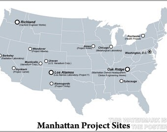 24x36 Poster; Manhattan Project Sites