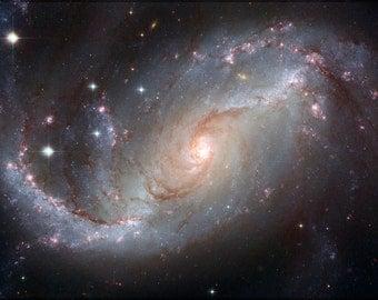 24x36 Poster; Spiral Galaxy Ngc 1672 Hst