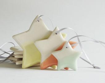 Hanging Stars//Set of 3//Porcelain Ceramic Art & Home Décor