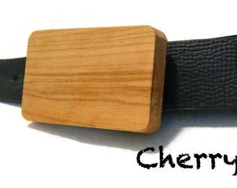 Wooden Belt Buckle - Cherry