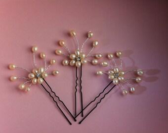 Pearl Bridal Hair Comb, pearl Hair Comb, Bridal hairpiece, Wedding hair accessories, Bridal Headpieces, Rhinestone hair pins bridal