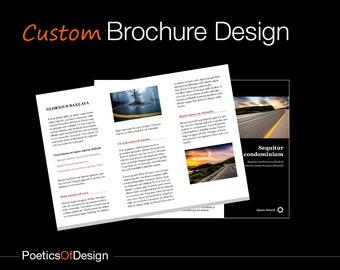 Custom Brochure Design, Tri-Fold Brochure, Business Brochure