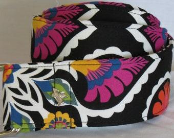Mandi - 2 inch Premium D-Ring Fabric Belt - Multi-color Print - Size Large