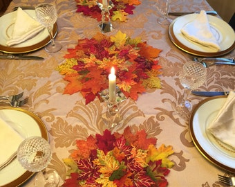 Harvest Leaf Centerpiece / Table Runner / Thanksgiving Decoration /  Leaf Placemats / Leaf Table Decoration / Autum Decoration