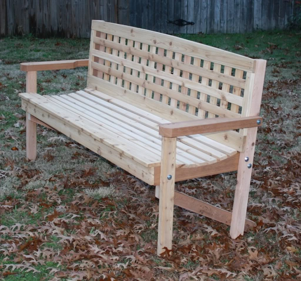 #394D5E Brand New 6 Foot Lattice Style Cedar Bench By ThreemanProducts with 1024x954 px of Brand New 6 Foot Storage Bench 9541024 pic @ avoidforclosure.info