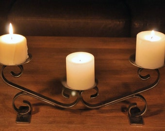 Ornamental Wrought Iron Table Top Candle Holder