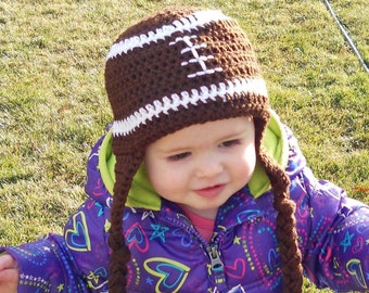 Football Ear Flap Hat