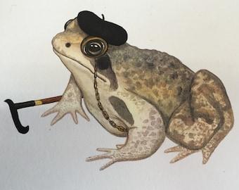 The Old Frog Illustration by Angela Djurfelter