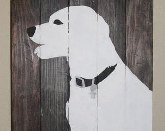 Custom Dog Silhouette, Makes a Great Gift